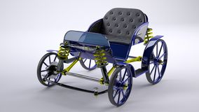 Blue unreal horse carriage royalty free stock images