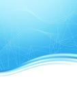 Blue unusual wave folder banner Stock Photography