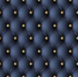 Blue upholstery seamless pattern Royalty Free Stock Photo