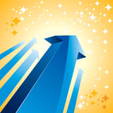 Blue upward arrow Stock Photo
