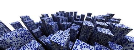 Blue urban abstract backdrop Royalty Free Stock Image