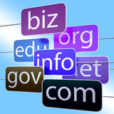 Blue Url Words Shows Org Biz Com Edu Royalty Free Stock Photo