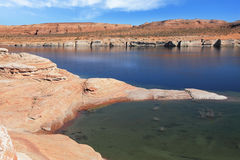 The blue and urquoise water in the desert Stock Images