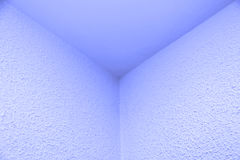 Blue triptych. Blue usable space for three different messages Stock Photo