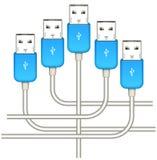 Blue usb Stock Image