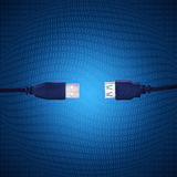 Blue usb cable Royalty Free Stock Photography