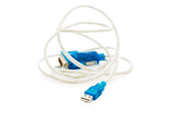 Blue USB cable Royalty Free Stock Image