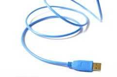 USB cable on wite background Stock Photography