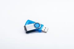 Blue usb flash drive Stock Photos