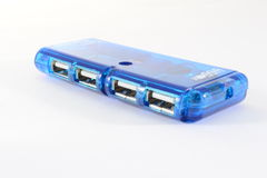 Blue usb hub Stock Photography