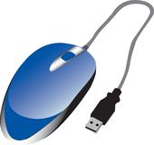 Blue USB Mouse Stock Image