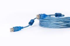 Blue usb plug. royalty free stock photo
