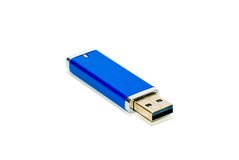 Blue USB Thumb Drive Stock Photography
