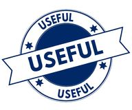Blue USEFUL stamp. Illustration graphic concept image Royalty Free Stock Photography