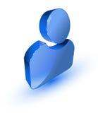 Blue user profile symbol Stock Photo