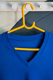 Blue v-shape T-shirt Stock Photo