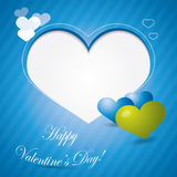 Blue valentine background or brochure composition Royalty Free Stock Image