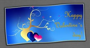 Blue valentine card Royalty Free Stock Photo