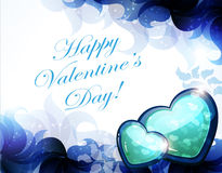 Blue Valentine card Royalty Free Stock Photos