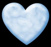 Blue valentine heart Royalty Free Stock Photos