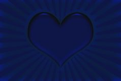 Blue Valentine Heart Royalty Free Stock Images