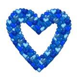 Blue valentine heart Stock Photo