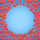 Blue Valentines day background Stock Photo