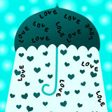 Blue Valentines Day Love card Stock Images