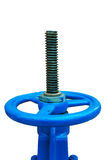 Blue valve Royalty Free Stock Image