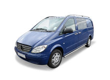 Blue van Royalty Free Stock Images