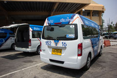 Blue9 Van of Greenbus company, route Lampang and Chiangmai. Royalty Free Stock Images