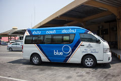 Blue9 Van of Greenbus company, route Lampang and Chiangmai. Stock Photo