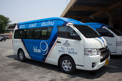 Blue9 Van of Greenbus company, route Lampang and Chiangmai. Stock Photos