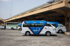 Blue9 Van of Greenbus company, route Lampang and Chiangmai. Royalty Free Stock Photography