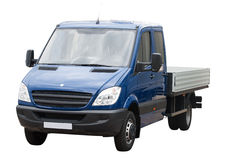 Blue van isolated Stock Images