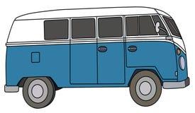 The blue van Stock Image