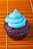 Blue vanilla cupcake Royalty Free Stock Photos