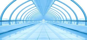 Blue vanishing hall airport Royalty Free Stock Photos