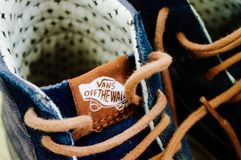 Blue Vans Off the Wall High Tops Stock Image