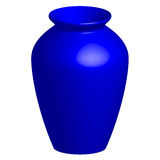 Blue vase Royalty Free Stock Photos