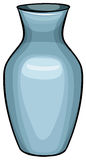 Blue vase. Close up ceramic blue vase vector illustration