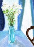 Blue vase painting. Royalty Free Stock Photo