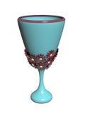 Blue vase. On white background Royalty Free Stock Image