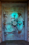 Blue vault door Stock Photo
