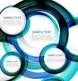 Blue vector abstract swirl banner Royalty Free Stock Photos