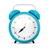 Blue Vector Alarm Clock Royalty Free Stock Photo