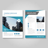 Blue Vector annual report Leaflet Brochure Flyer template design, book cover layout design, Abstract blue presentation templates Royalty Free Stock Photography