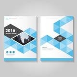 Blue Vector annual report Leaflet Brochure Stock Photos