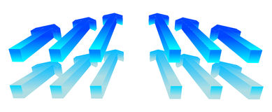 Blue Vector Arrows Stock Images
