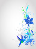 Blue vector  background Stock Images
